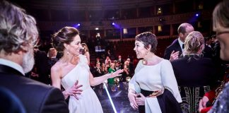 After the ceremony the royal couple stepped on stage to meet with the award winners heres Kate having a chat with The Favourites Olivia Colman Photo C GETTY IMAGES