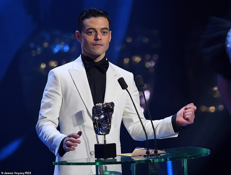 American actor Rami Malek paid tribute to the uncompromising late Queen frontman as he accepted the gong for his role in Bohemian Rhapsody