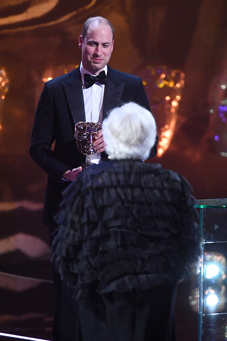 As President of BAFTA the Duke presented the Fellowship award to Ms Thelma Schoonmaker Photo C REX
