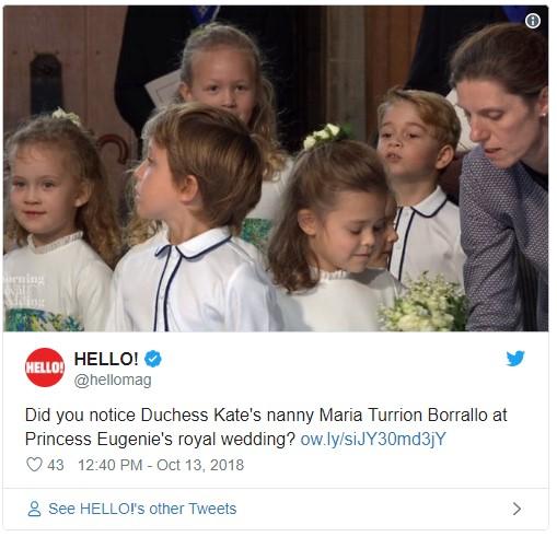 Borrallo at Princess Eugenies Royal Wedding Photo C TWITTER