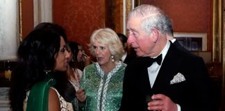 Camilla looked fabulous in her sequin dress Photo C GETTY IMAGES
