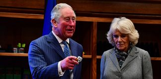 Charles and Camilla at the Supreme Court on Tuesday Photo C GETTY IMAGES