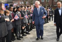 Charles encouraged the children to make a difference to the future of the country