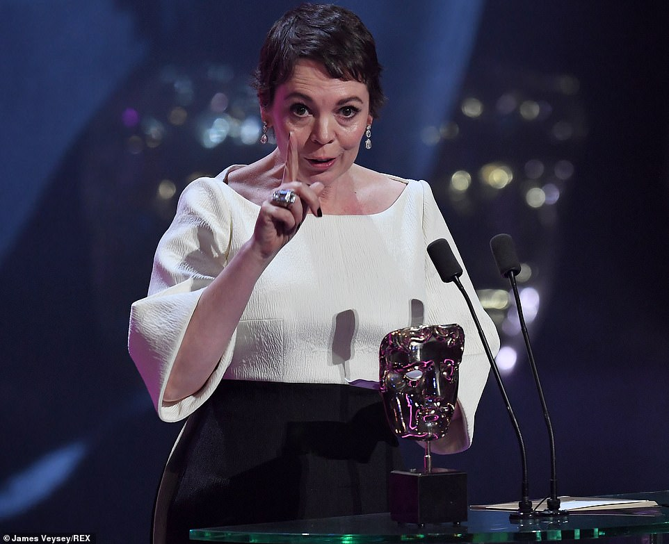 Following her win Olivia Colman who wore Emilia Wickstead congratulated her extraordinary fellow nominees while joking that she is going to get to celebrate her incredible win