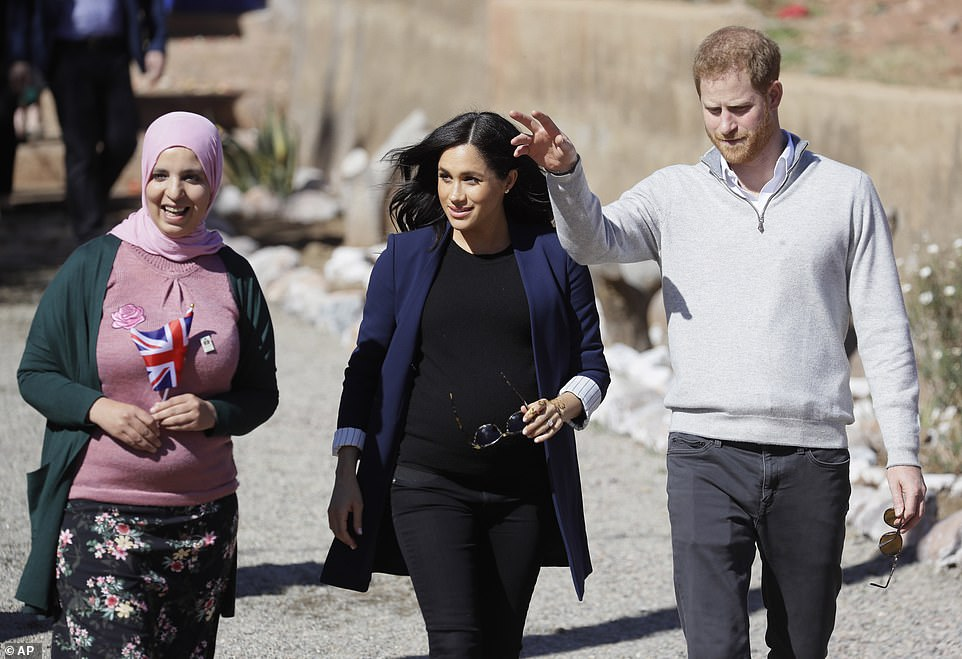Harry and Meghan arrive in Asni this morning Heralding the royal couples arrival in Morocco British Ambassador Thomas