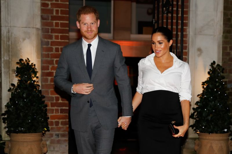 Harry and Meghan pictured at the Endeavour Fund Awards are expecting their first child this spring Photo PA