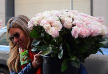 Her arrival comes shortly after flowers were seen being delivered to The Mark on Tuesday afternoon