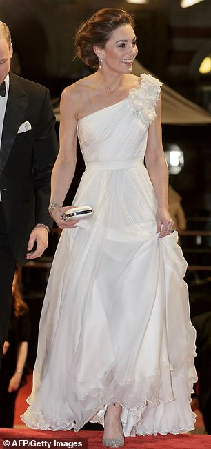 Kate appeared to follow suit in her Grecian inspired Alexander McQueen dress at the BAFTAs last night
