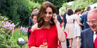 Kate wows in red gown as she discreetly attends mum Carole's birthday at Pippa's home Photo C GETTY IMAGES