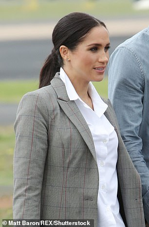 Mane attraction Meghan is known for pulling off a flawless ponytail such as during her Australia tour in October