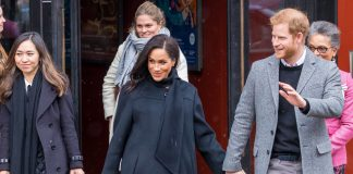 Meghan and Harry pictured in Bristol are expecting their first child this spring Photo PA