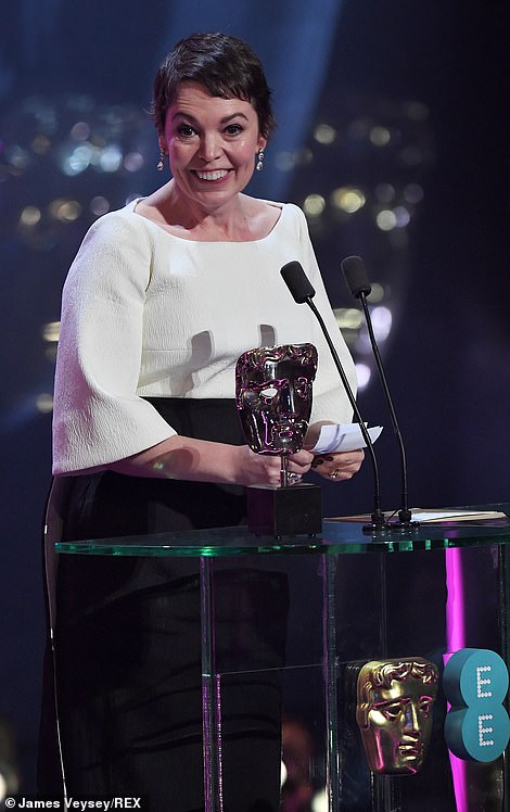 Olivia Colman was delighted as she took home the gong for her sensational display in the critically acclaimed film at the nd British Academy Film Awards