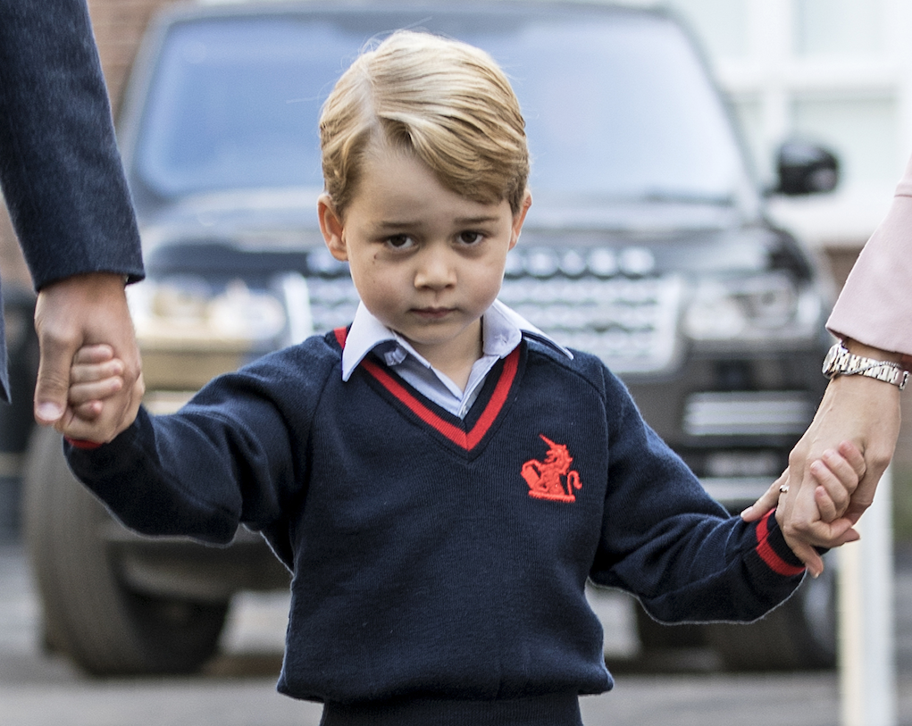 Prince George attends the £ a year school in Battersea Pic GETTY