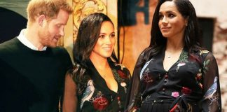 Prince Harry gazed at Meghan Markle's blossoming baby bump Image GETTY PA