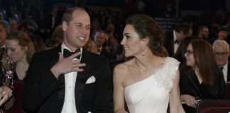 Prince William and Kate exchanged many sweet moments at the BAFTAs Photo C GETTY IMAGES