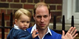 Prince William and Prince George waving Photo (C) GETTY IMAGES
