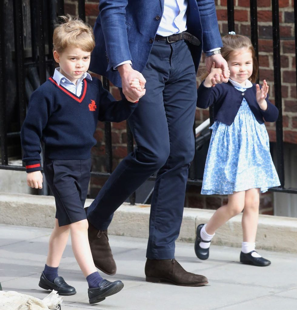 Prince William with Prince George and Princess Charlotte Photo C Chris Jackson Getty Images