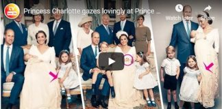 Princess Charlotte gazes lovingly at Prince Louis in adorable royal christening pictures