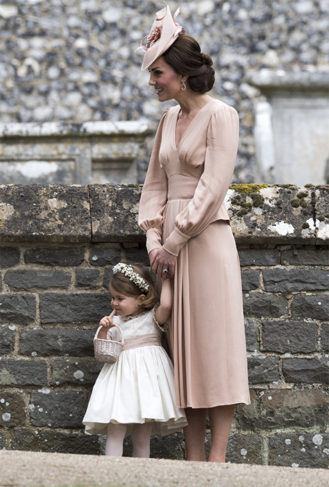 Princess Charlotte looked adoarble at the wedding of Pippa Middleton Photo C GETTY IMAGES