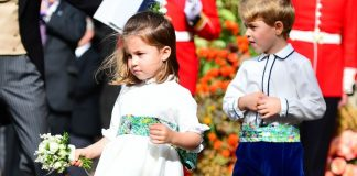 Princess Charlotte of Cambridge and Prince George of Cambridge attend the wedding of Princess Eugenie of York to Jack Brooksbank Photo C GETTY IMAGES POOL