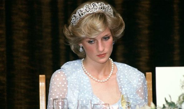 Princess Diana in the Spencer family tiara Image Getty