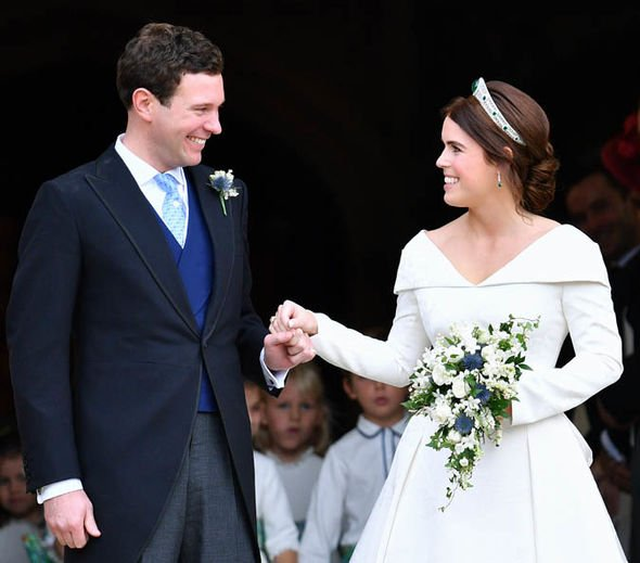 Princess Eugenie and Jack Brooksbank tied the knot on October Image GETTY