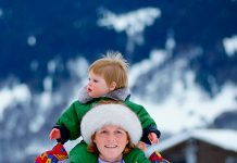 Princess Eugenie shared a throwback memory of her mum posting a childhood shot of one of their skiing trips Photo C GETTY IMAGES