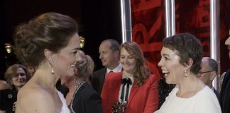 Right royal meet up While the Duchess of Cambridge won best dressed at the nd annual EE British Academy Film Awards