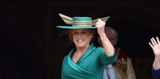 Sarah Ferguson was spotted outside a hotel in Madrid this week Pictured