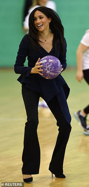 Sporty After Meghan brought a touch of glamour to a sports demonstration in Loughborough in September