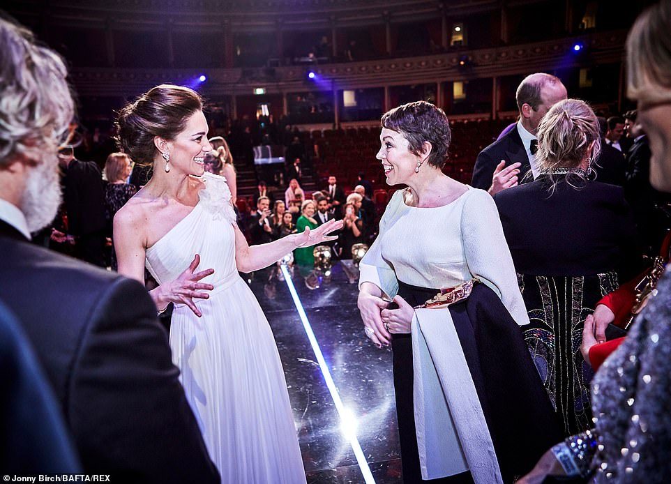 The Duchess of Cambridge made sure to congratulate Best Actress winner Olivia Colman