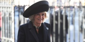 The Duchess of Cornwall wears a very regal outfit in Liverpool with Prince Charles Photo C GETTY IMAGES