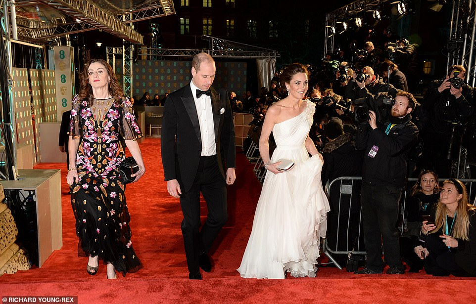 The Duke and Duchess of Cambridge steal the show as they walk the red carpet at the nd British Academy Film Awards at Londons Royal Albert Hall on Sunday night