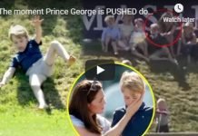 The moment Prince George is PUSHED down a hill by Savannah Phillips at Polo Trophy