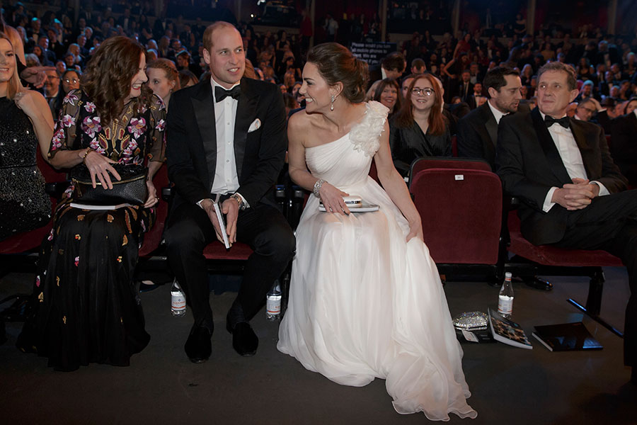 The royals were given some of the best seats in the house sitting front row close to the stage Photo C PA