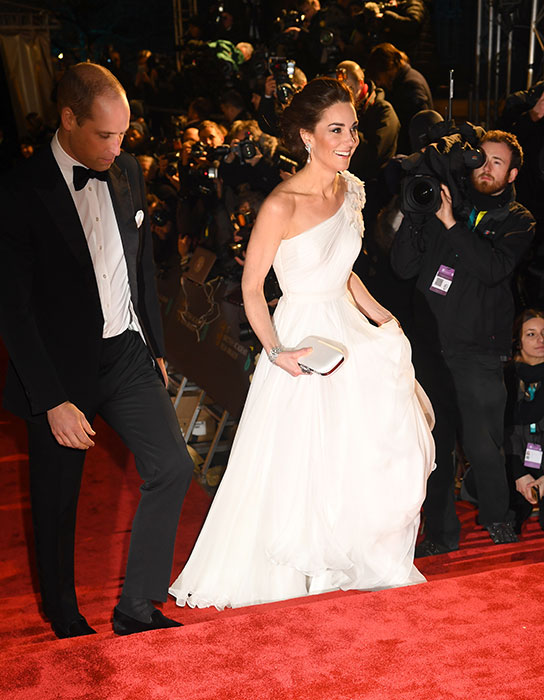 The royals were in high spirits as they arrived at the Royal Albert Hall walking the red carpet in style Photo C GETTY IMAGES