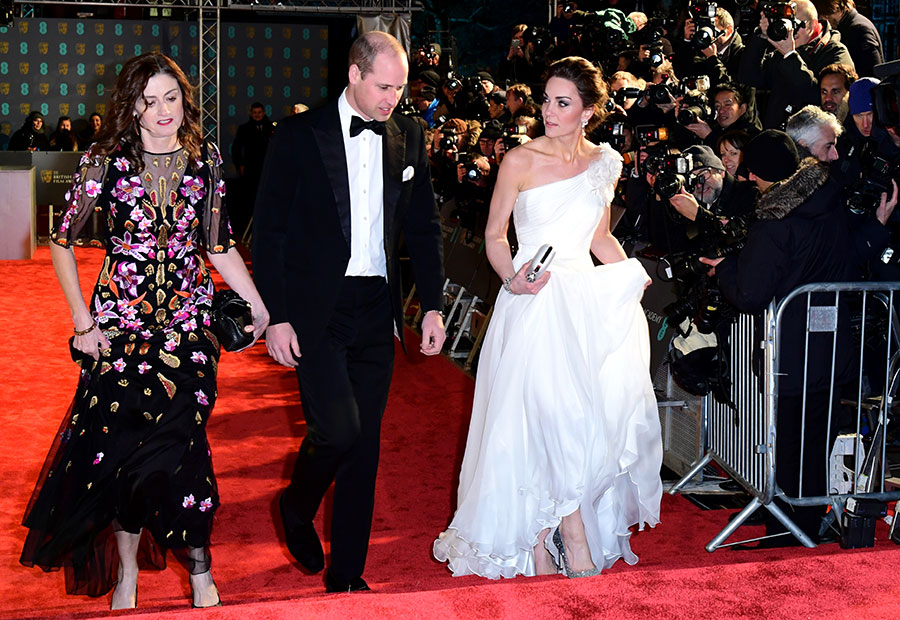 The royals were welcomed by BAFTA Chief Executive Amanda Berry Photo C PA