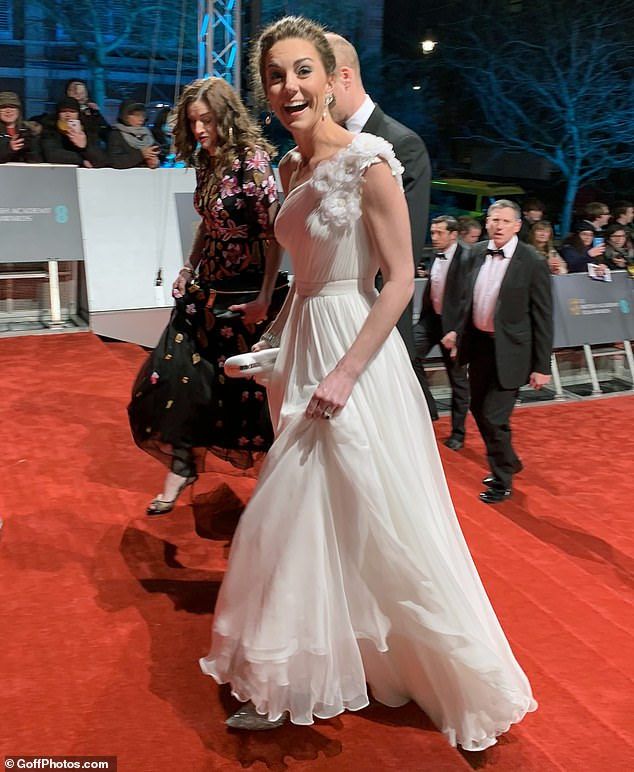The single mother who took the now famous photo of the fab four smiling on Christmas Day at Sandringham has once again helped get the perfect royal image of a beaming Kate arriving at the BAFTAs