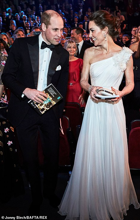 all smiles as they laughed and giggled their way through last nights BAFTA awards ceremony