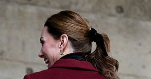 in November Kate broke with convention by sporting a similar style during a visit to UCL in London