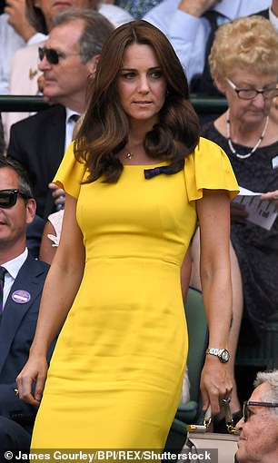 just ten days later Kate followed suit when she wore this vibrant Roksanda number at Wimbledon