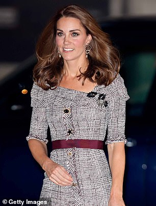 later this year the Duchess of Cambridge opted for an Erdem dress in London which appeared to take inspiration from the collarless blouse