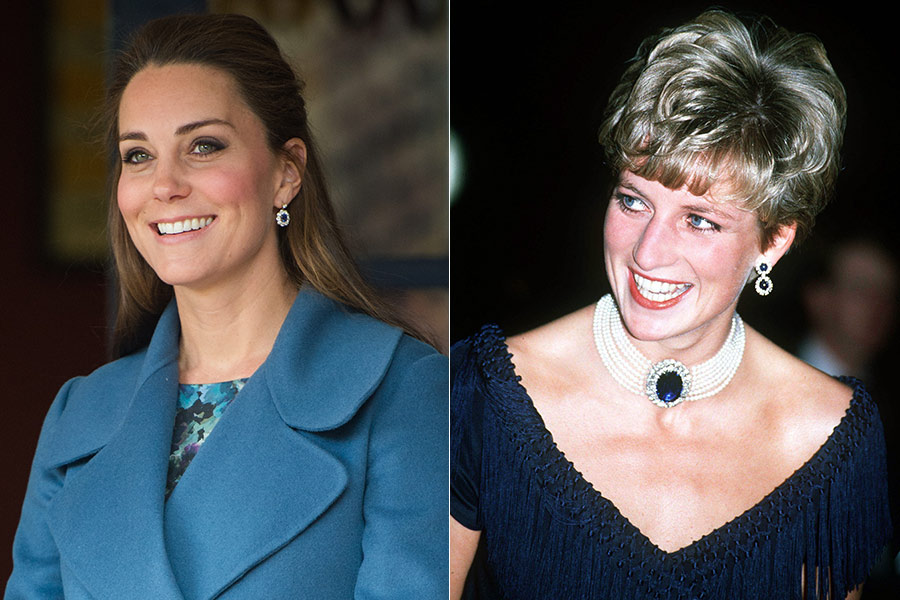 times Kate has paid homage to Princess Diana Photo C GETTY IMAGES