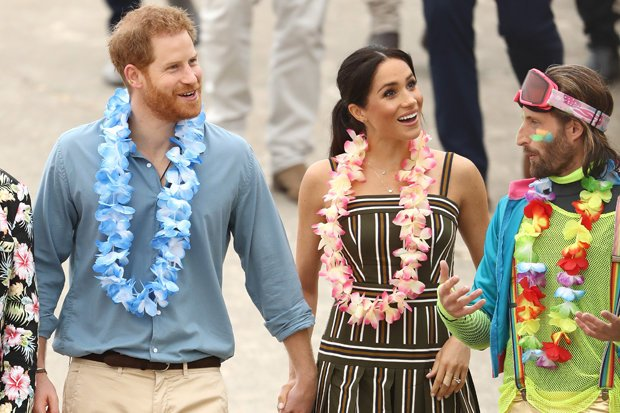 ANNOUNCEMENT Meghan revealed she was pregnant while in Australia Pic GETTY