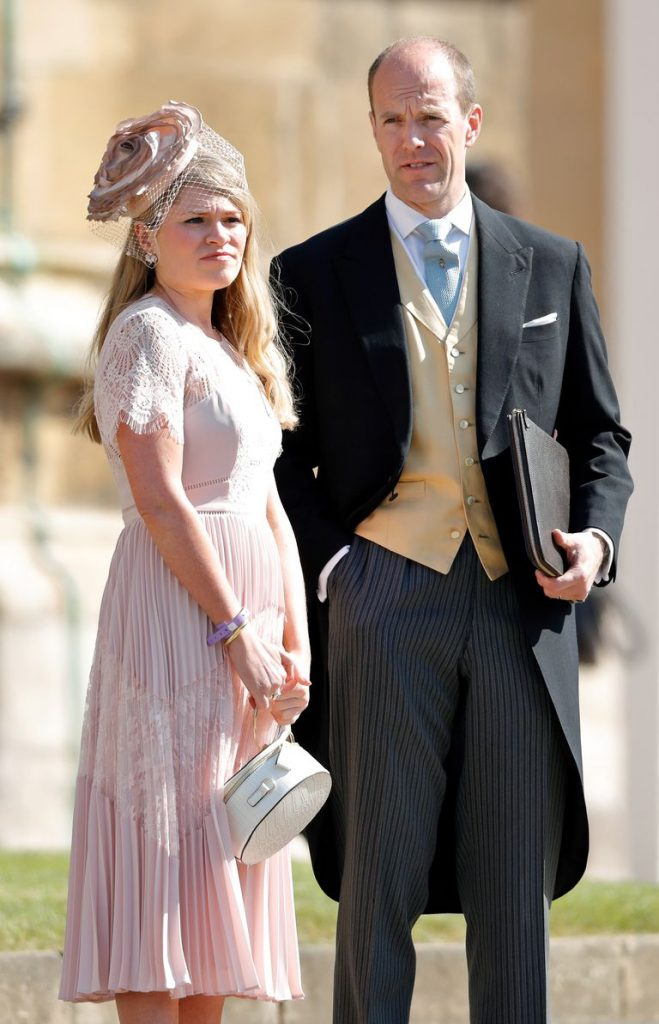 Amy at the royal wedding last May Photo C GETTY IMAGES