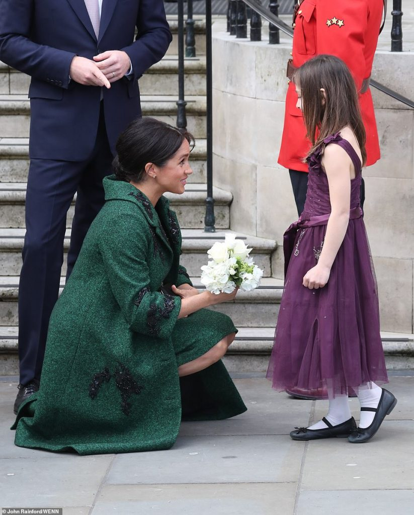 As the Duke and Duchess of Sussex left Canada House this afternoon they were handed posies by Asya Karkaria nine Todays event showcased and celebrates