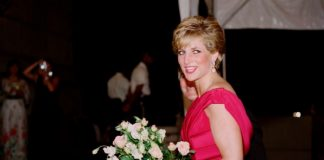 Britains Princess Diana arrives on October for a charity gala at the Departmental Auditorium in Washington In she prepared a surprise