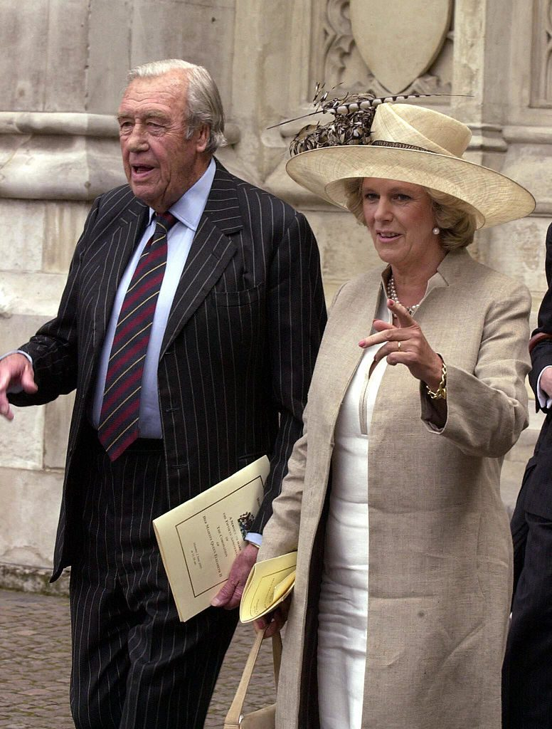 Camilla Parker Bowles and her father Bruce Shand
