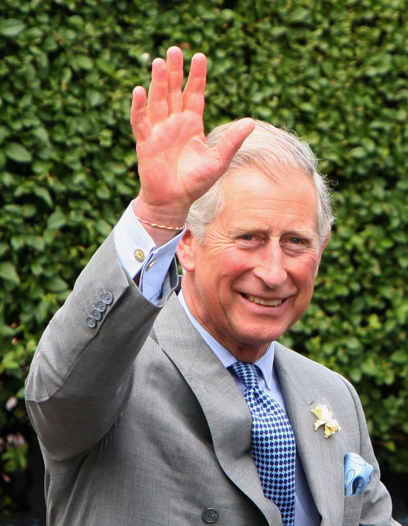 Charles seen here wearing his beloved cuff links given to him by Camilla