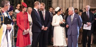 Close bond The Duchess of Sussex and her father in law Prince Charles were seen deep in conversation before the service started